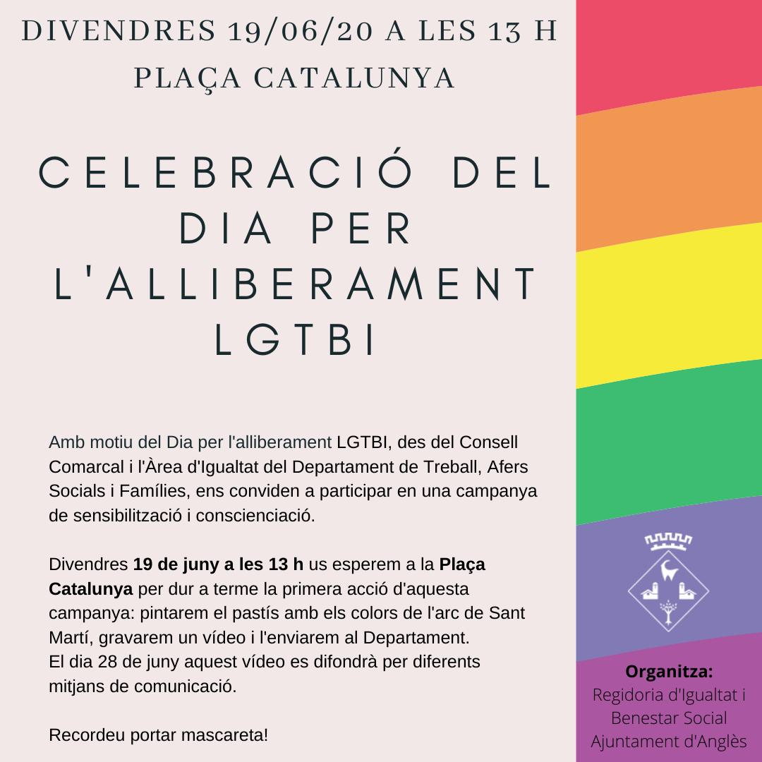 Celebració del dia mundial per l'alliberament LGTBI 2020